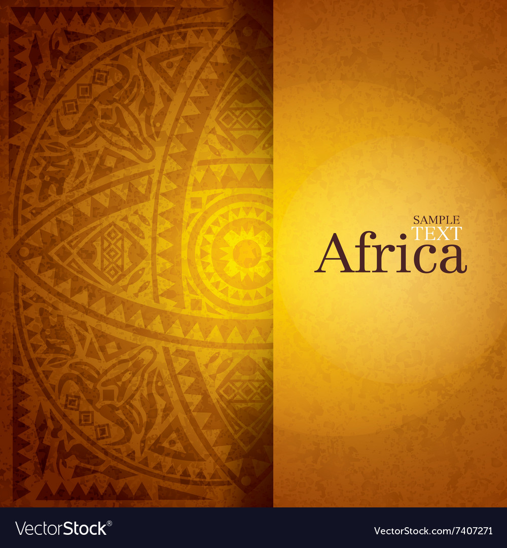 African background design vector