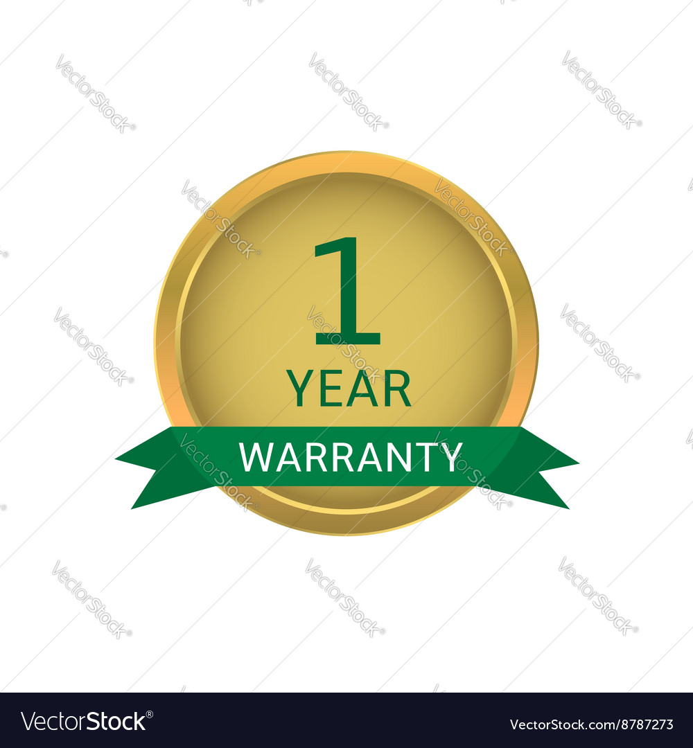 One year warranty label vector