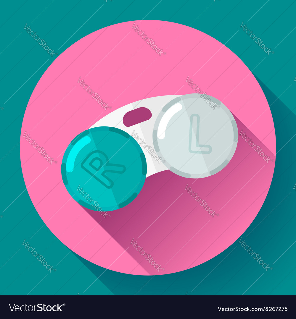 Contact lens case container for contact lenses vector