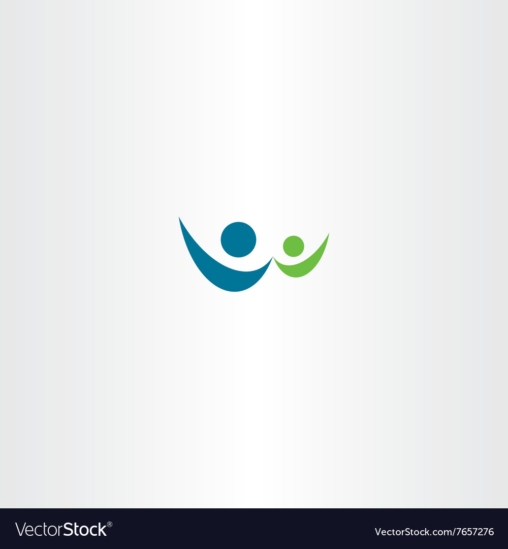 Man and child people sign logo icon vector