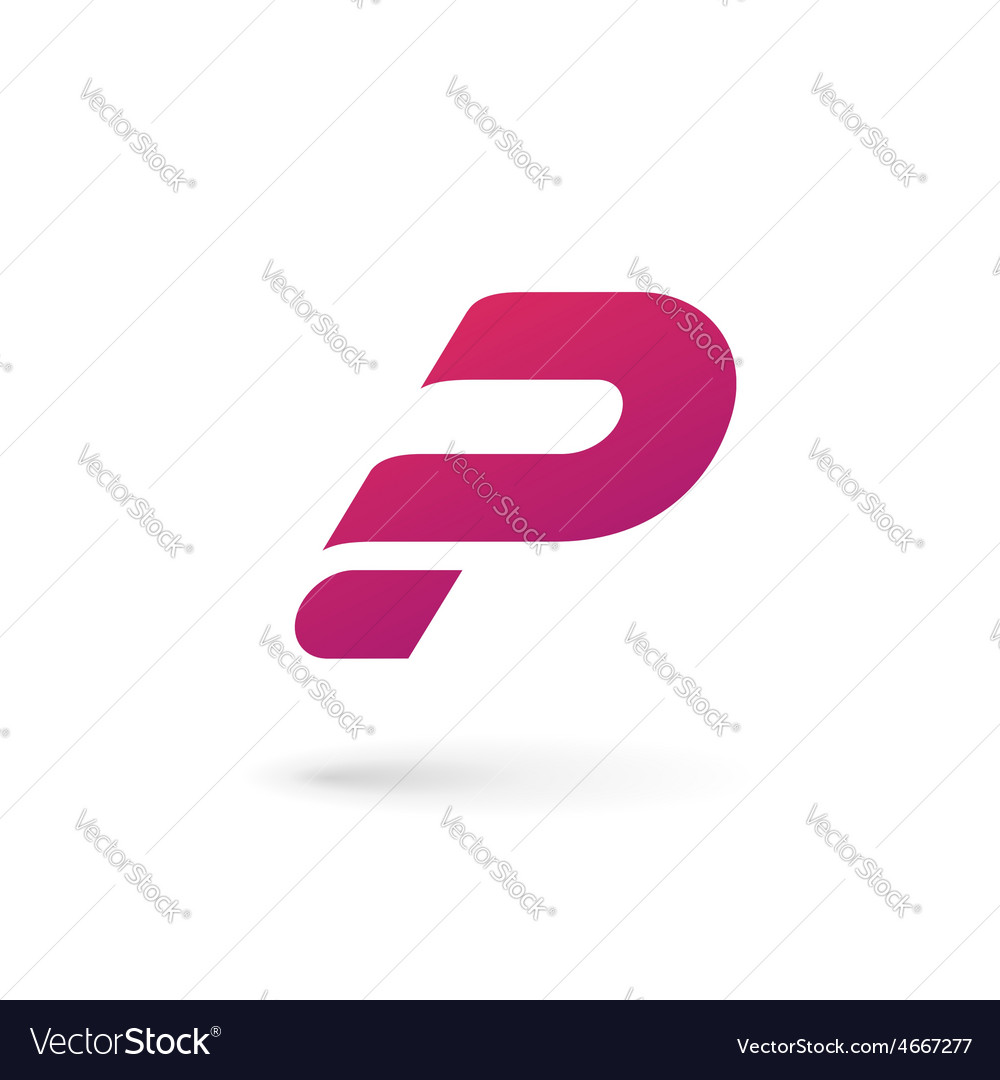 Letter p question mark logo icon design template vector