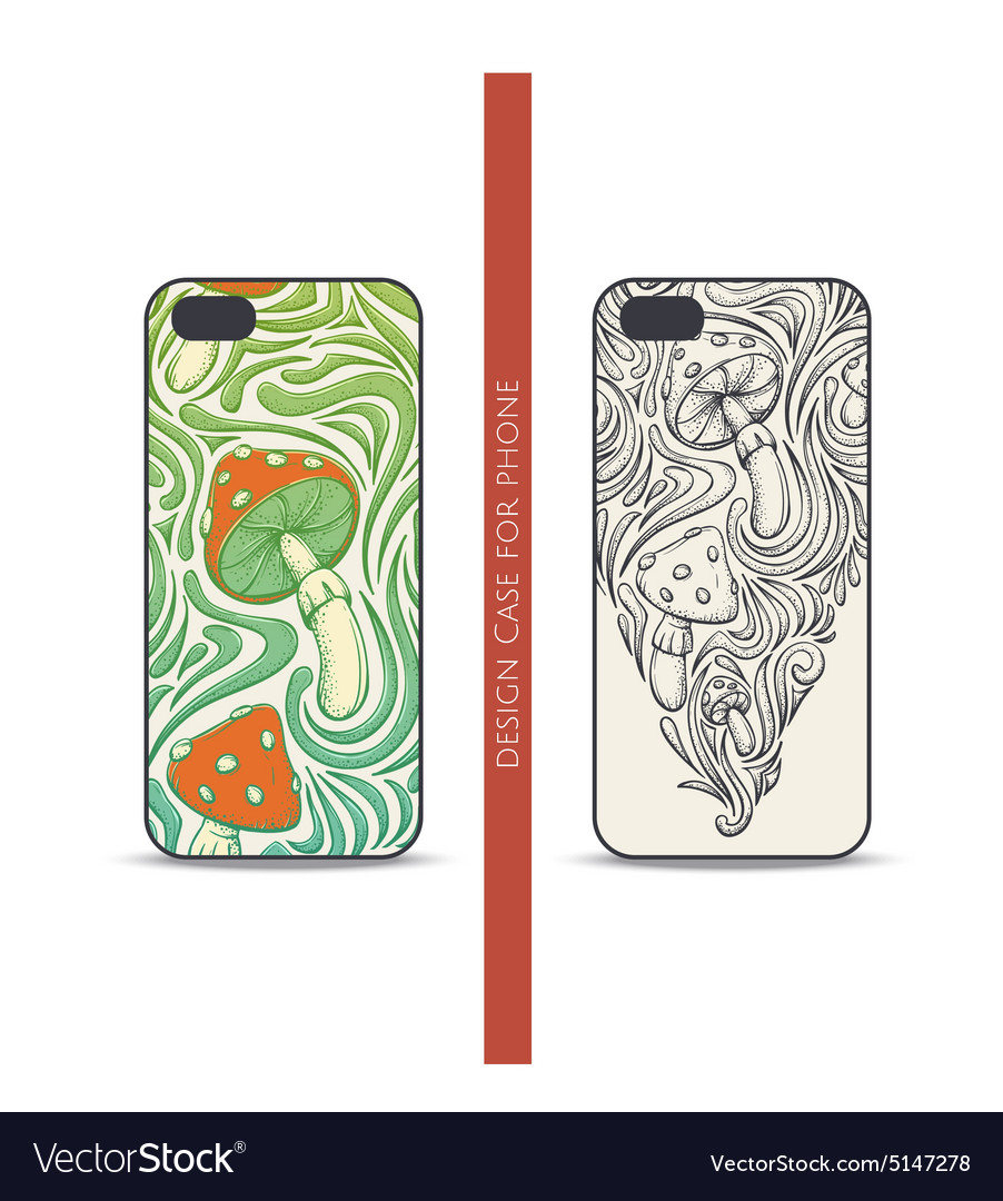 Design case for phone five vector