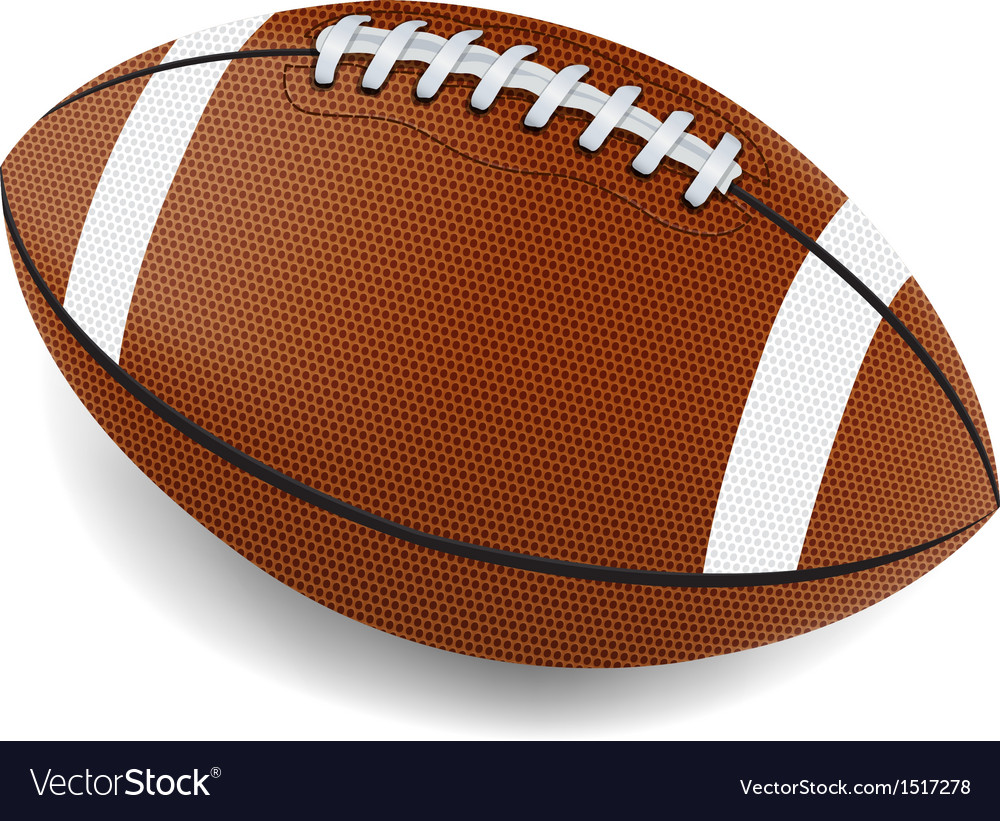 Realistic american football vector