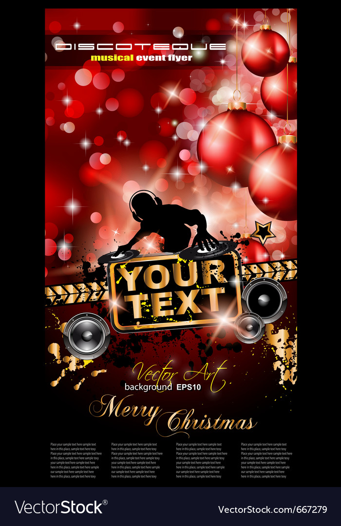 Christmas party event vector