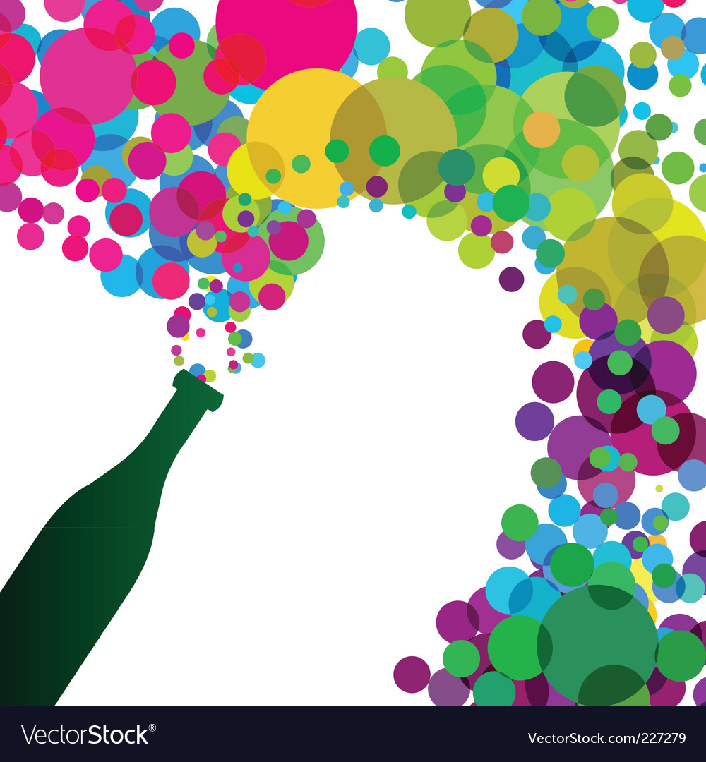 Colorful bubbles vector