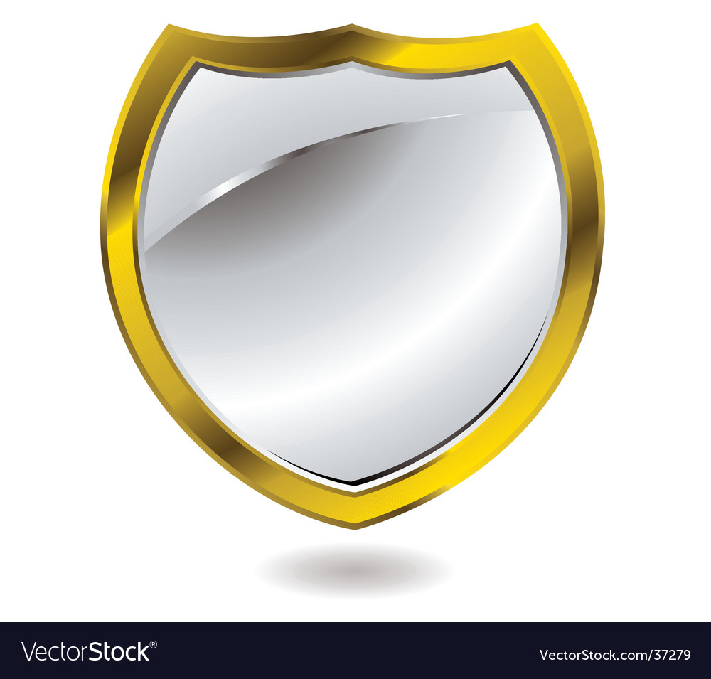 Silver shield vector