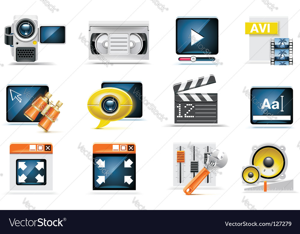 Video production set vector
