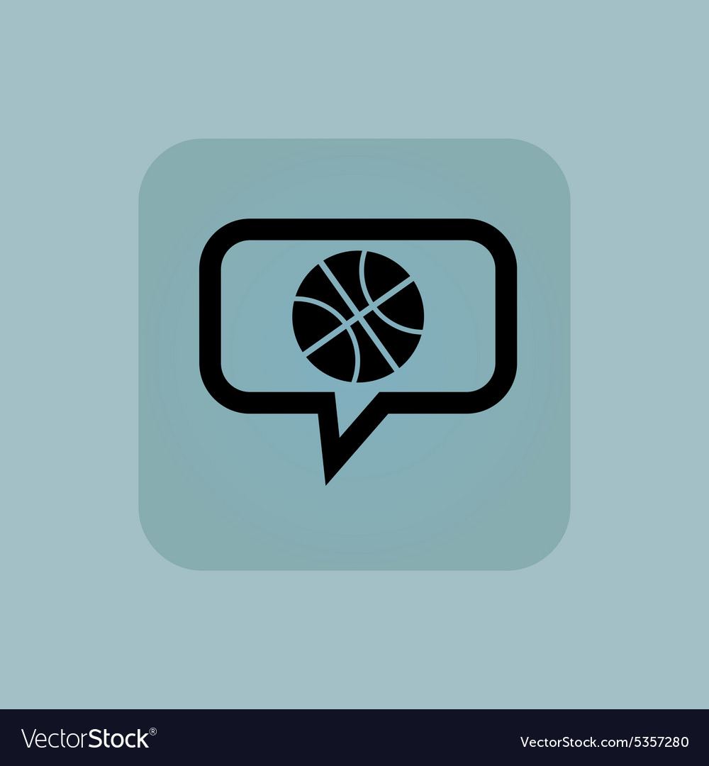 Pale blue basketball message icon vector