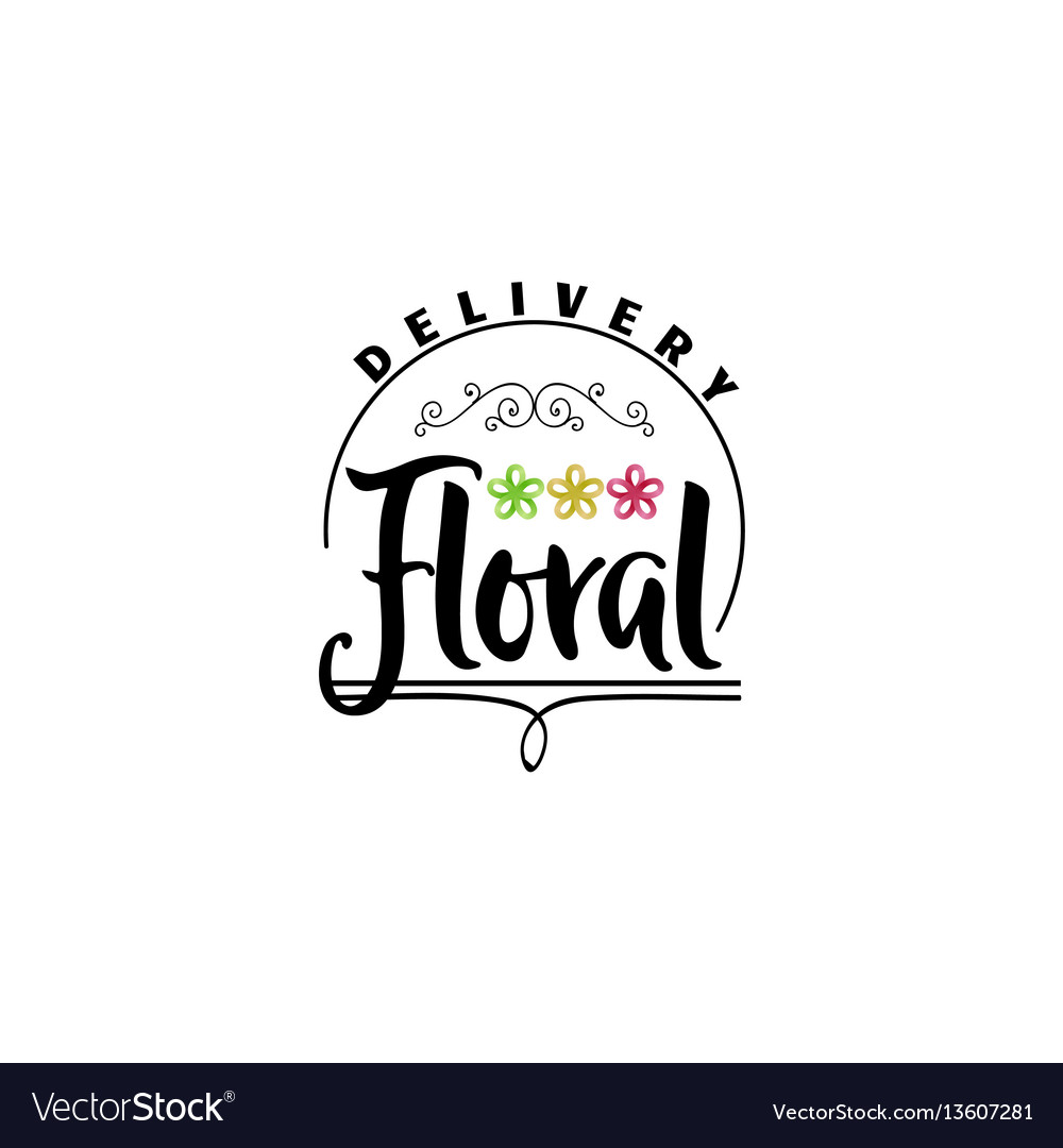 Badge for small businesses  flower shop counter vector