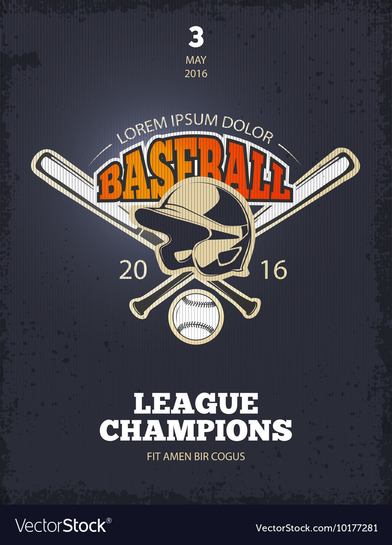 Retro baseball poster vector
