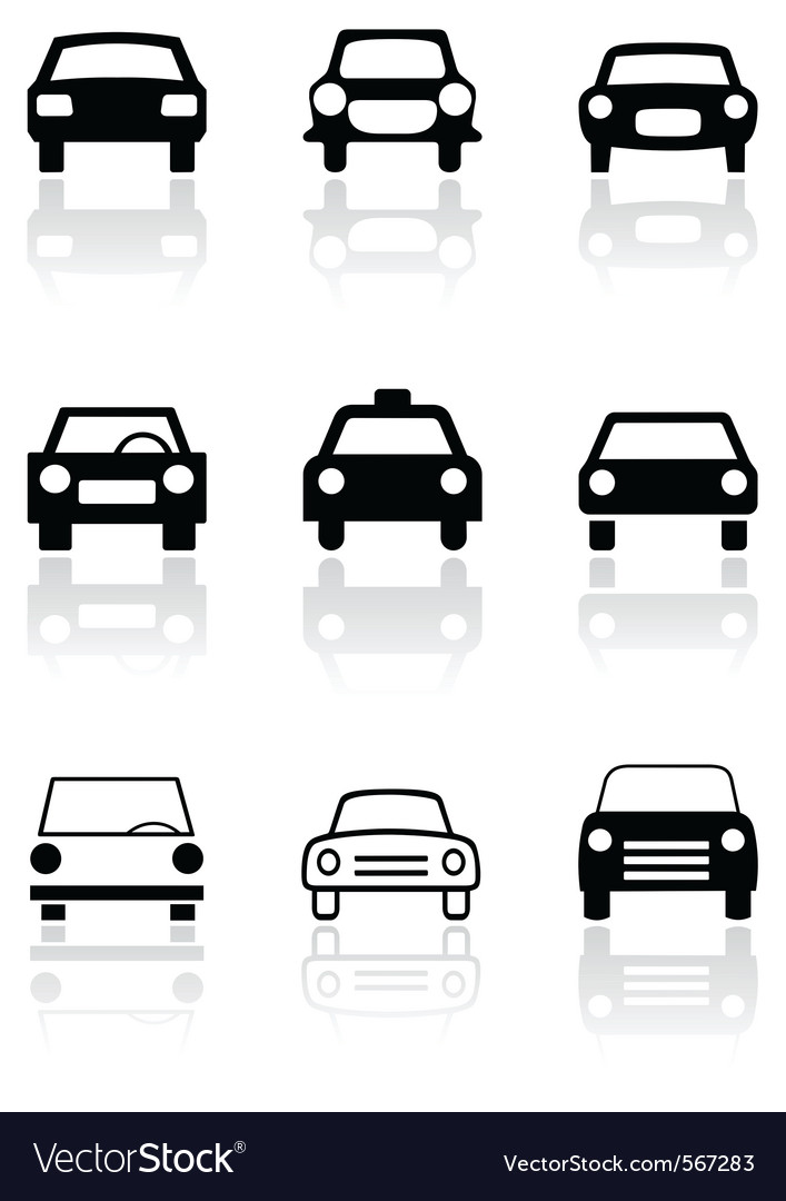Car symbol set vector