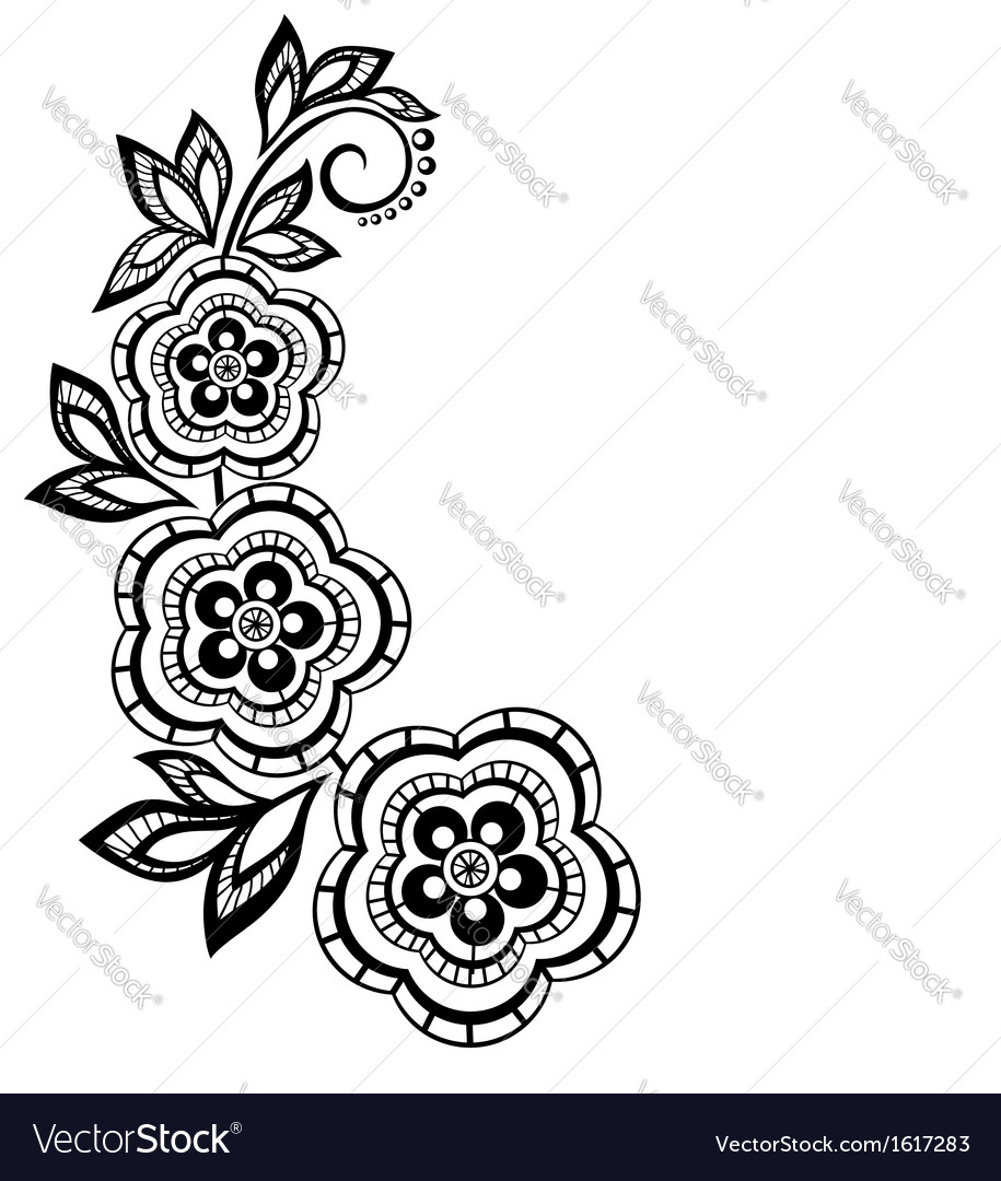 Isolated branch with flowers design element vector