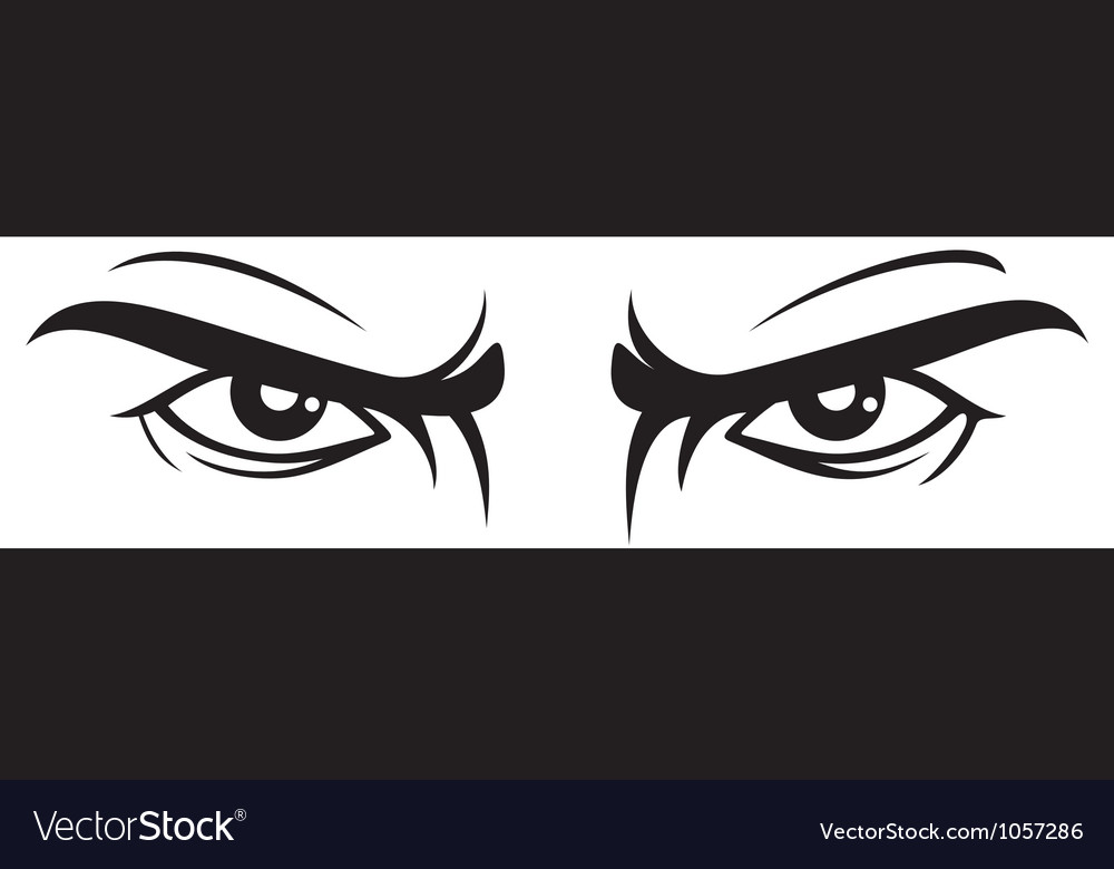 Angry look  bad eye vector
