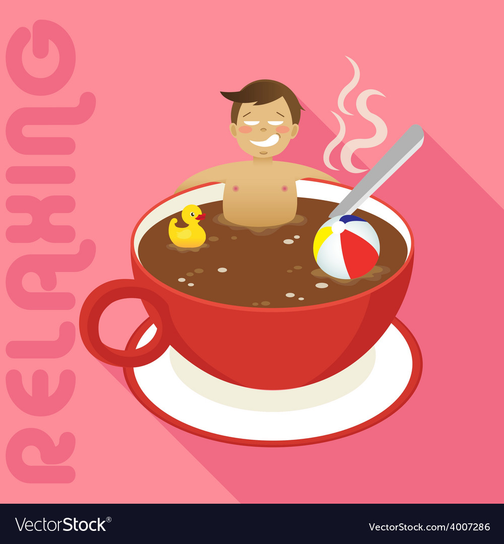 Coffee relax vector