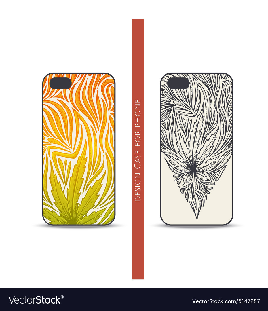 Design case for phone three vector