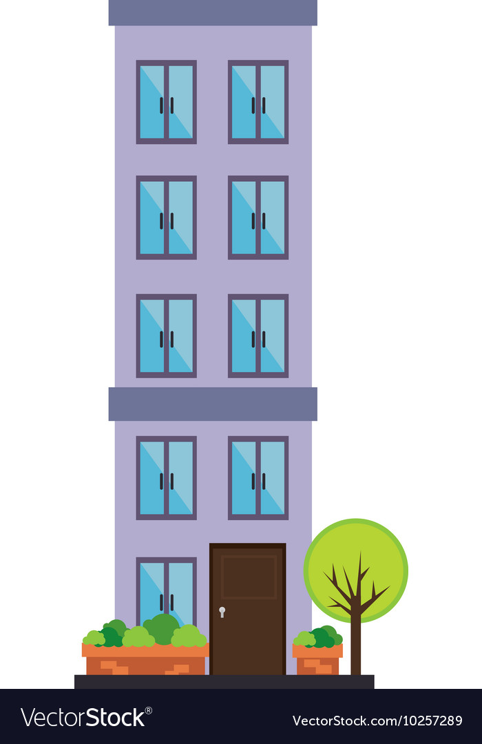 Apartment building tower city vector