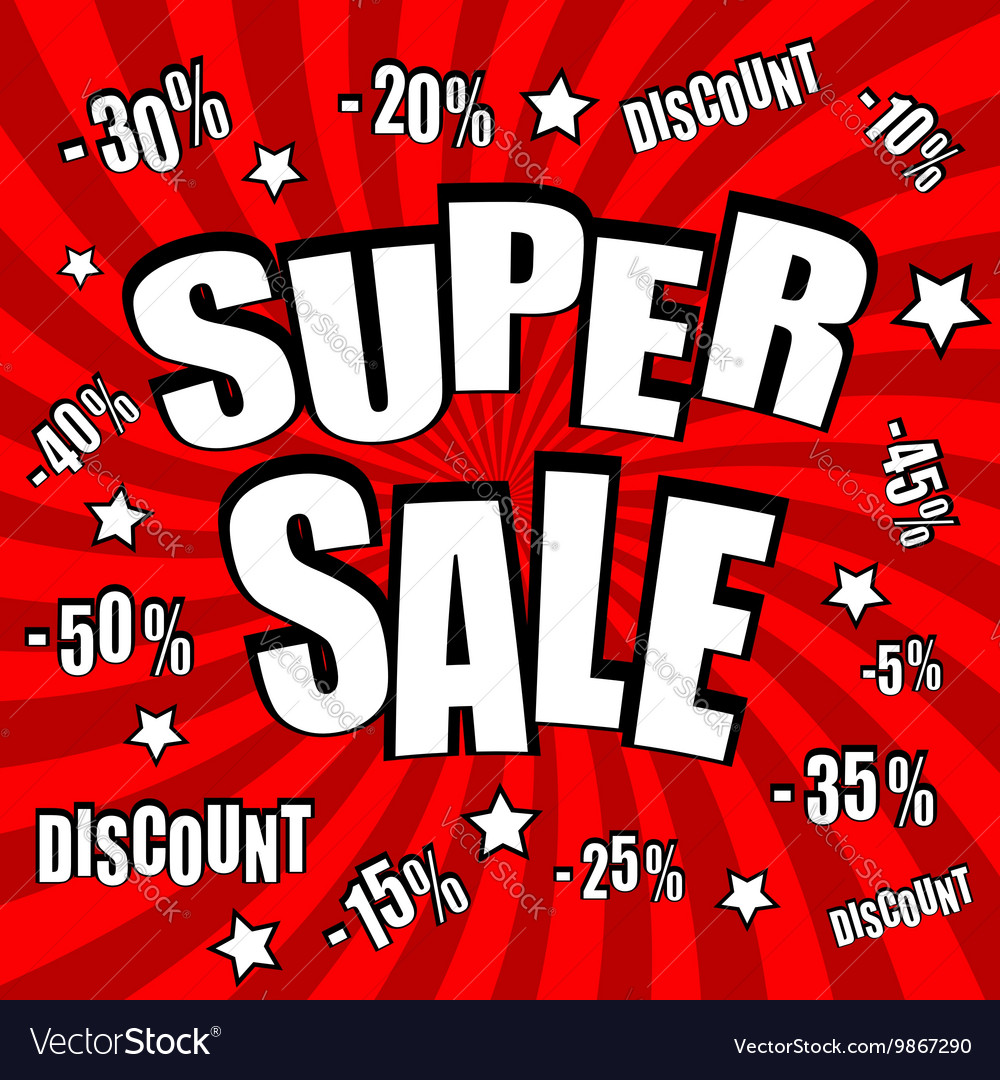 Super sale comic poster vector