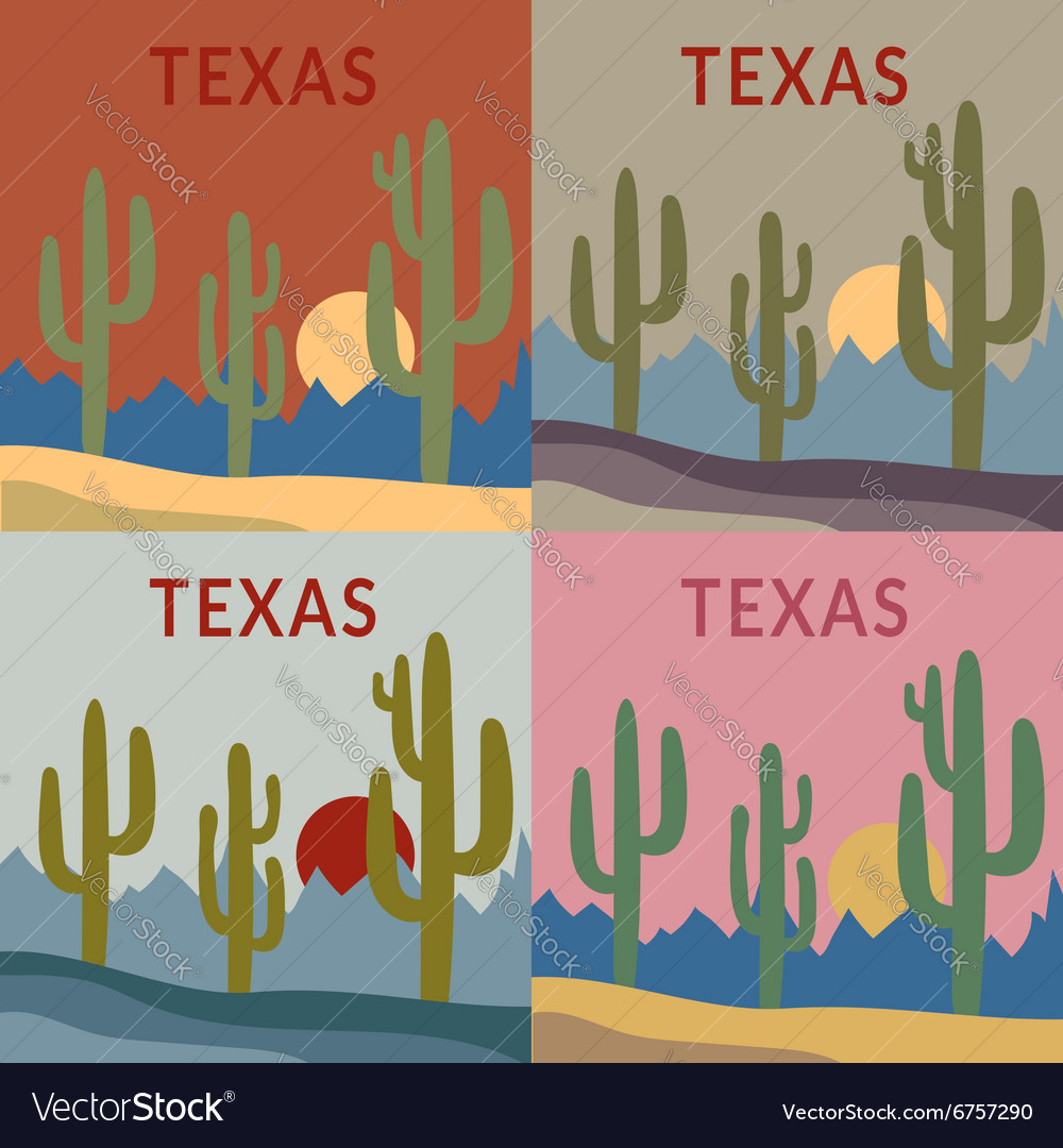 Texas tshirt design set vector