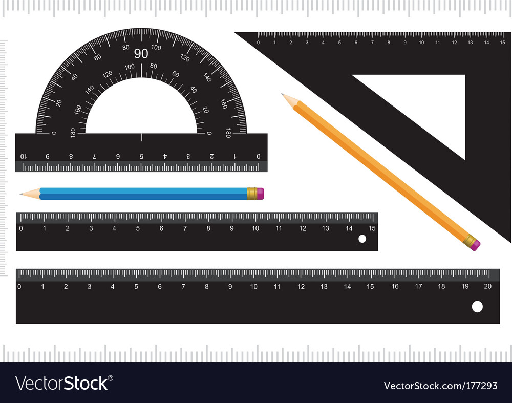 Black ruler vector