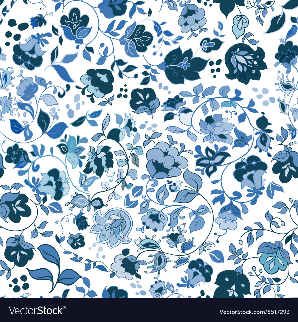 Floral seamless background pattern wallpaper vector