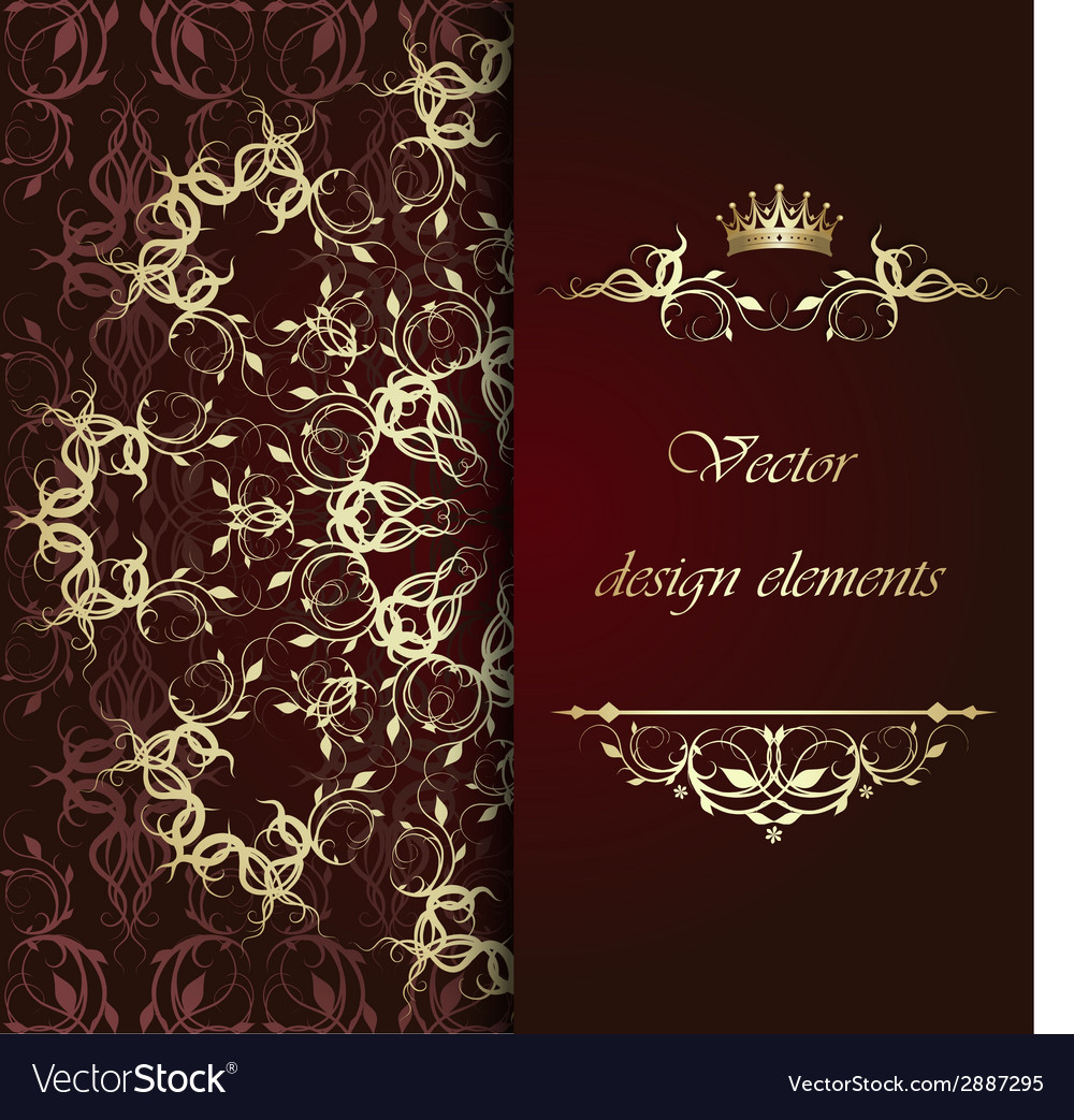 Beautiful gold calligraphic pattern vector