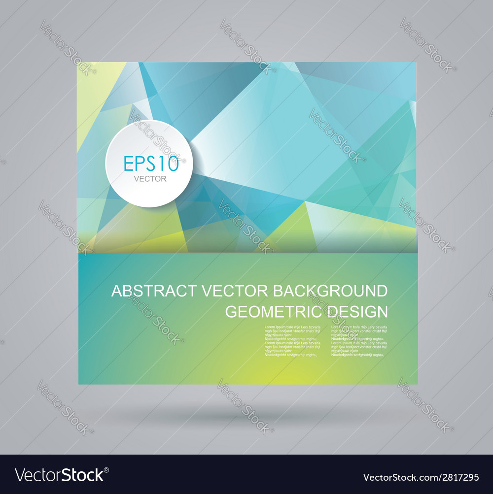 Bright summer card with abstract geometric vector