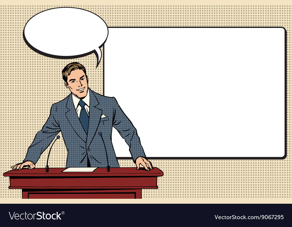Business presentation a scientific lecture vector
