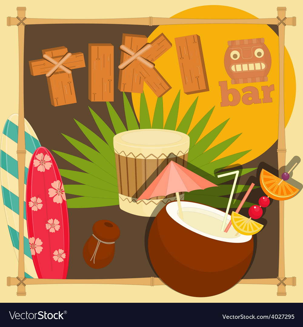 Tiki bar vector