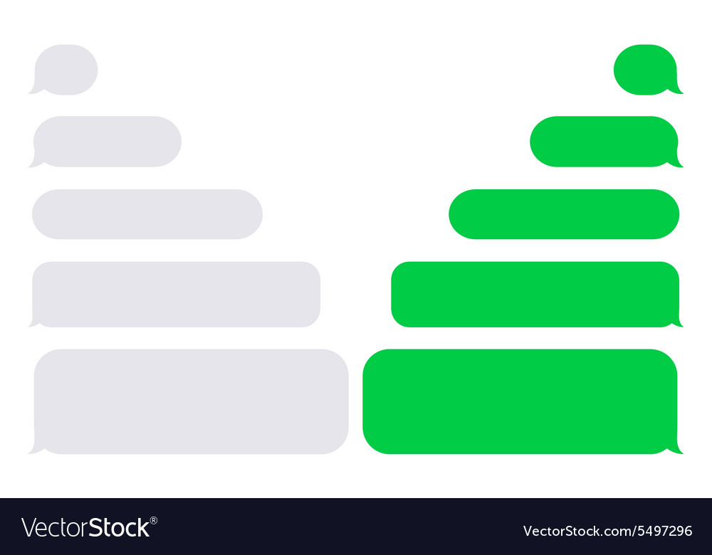 Modern sms or message icons vector