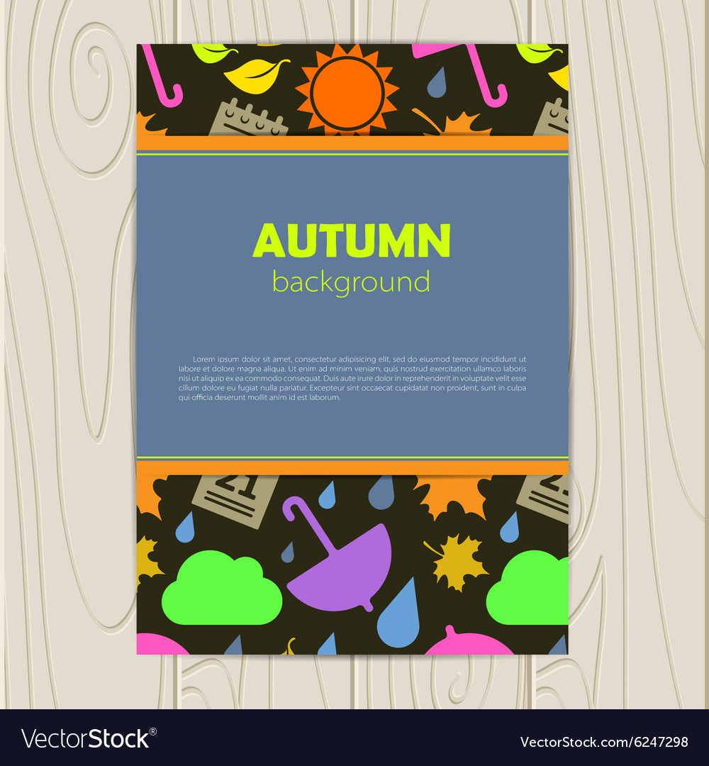 Abstract background with autumn vector