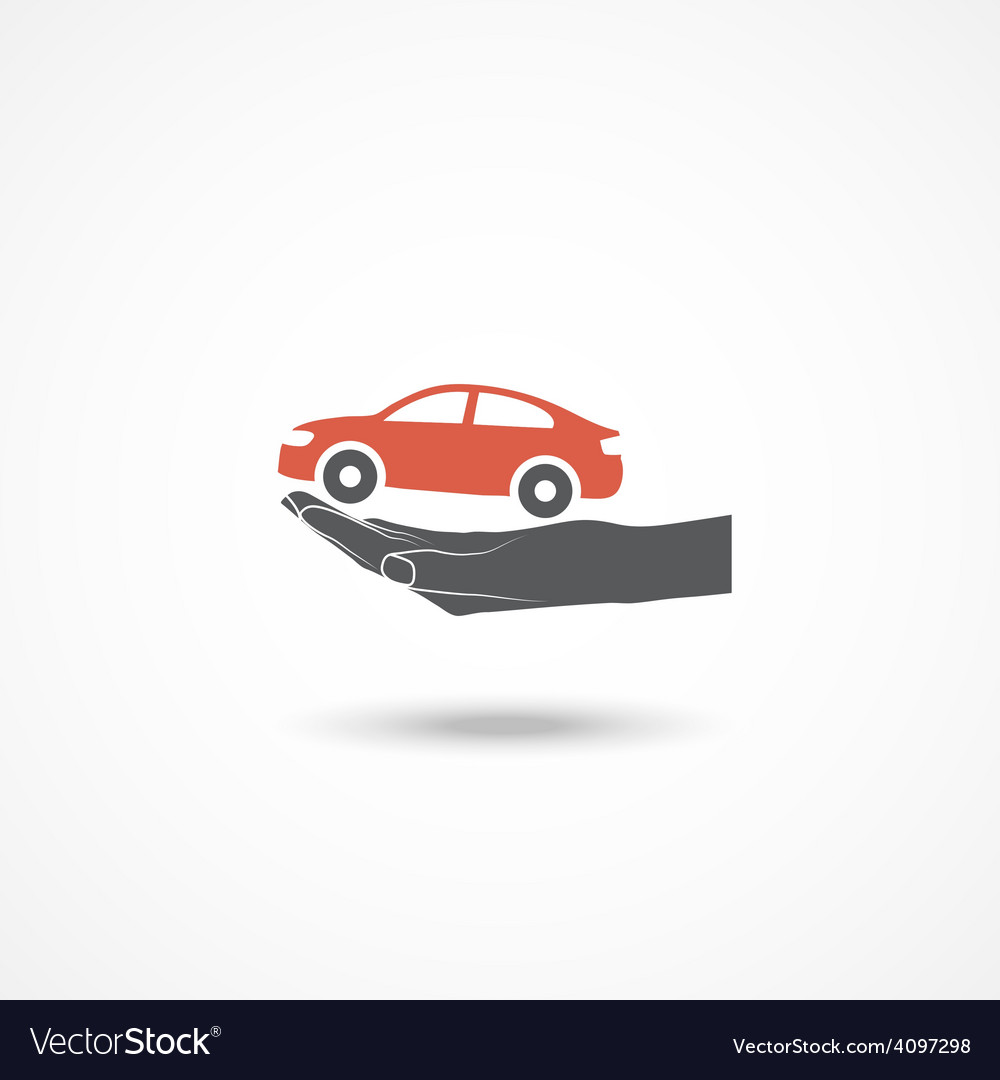 Car insurance icon vector