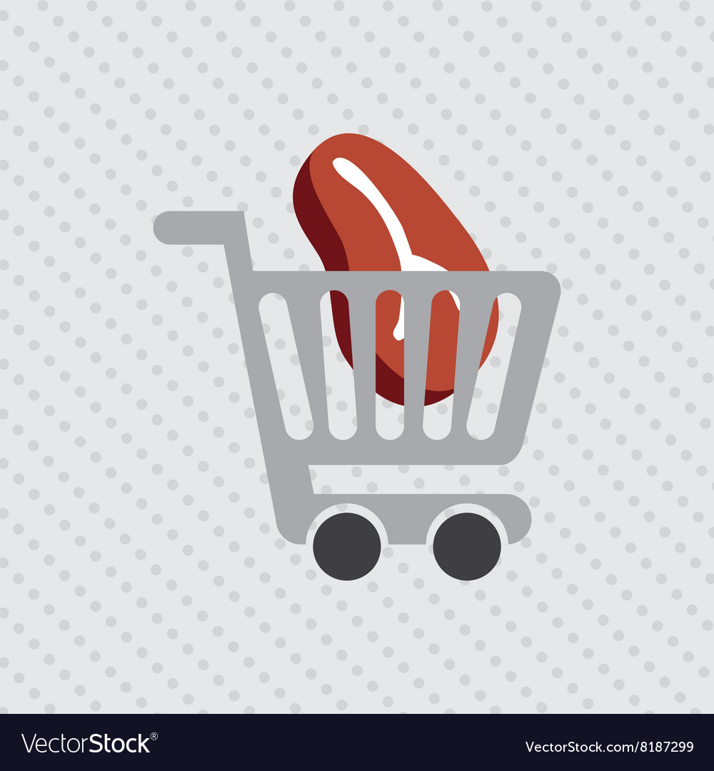 Grocery market design vector