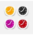 realistic design element clock vector image