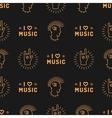 Music seamless pattern Punk Mohawk Hand Rock N vector image