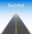The road to success vector image vector image