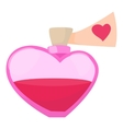 Love potion icon cartoon style vector image