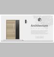 Elements of architecture front door background 1 vector image
