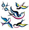 Tattoo Style Swallow vector image