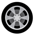 Auto wheel vector image