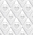 Elegant pattern with hearts in rhombus Background vector image