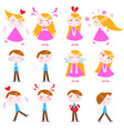 cute cartoon kids vector image vector image
