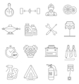 Car Service Icons Line vector image