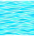 Seamless patterns with stylized waves blue shades vector image