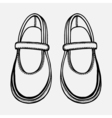 ballet shoes sketch vector image
