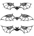 bats collection on white background vector image