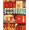 Beer Festival vintage style grunge poster vector image