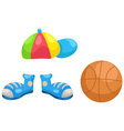 cap - shoes -basketball vector image