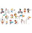 Different sports activities vector image