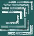 Frame Elements Set - different lace edges vector image