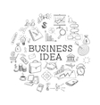 hand draw doodle web charts business elements vector image
